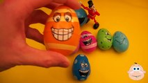 Kinder Surprise Egg Learn-A-Word! Spelling Play-Doh Shapes! Lesson 3 (Teaching Letters Opening Eggs)