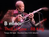 Thrill is Gone - BB King - Backing Track