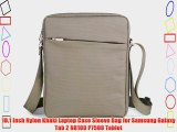 10.1 Inch Nylon Khaki Laptop Case Sleeve Bag for Samsung Galaxy Tab 2 N8100 P7500 Tablet