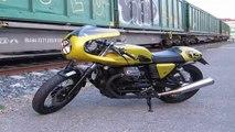 Custom Moto Guzzi V7 Stone by Officine Sbrannetti Motorcycle Bike MOTO МИР 2015