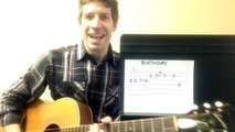 """Two-Minute Guitar Lesson: """"Birthday"""" by The Beatles !"""
