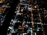 Cessna 172. Amazing night flight/landing video over the crazy Hollywood. Hollywood Tour
