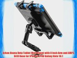 Arkon Heavy Duty Tablet Wall Mount with 8 inch Arm and AMPS Drill Base for iPad Air iPad Galaxy