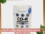 Smartbuy 700mb/80min 52x CD-R White Inkjet Hub Printable Blank Recordable Media Disc (400-Disc)