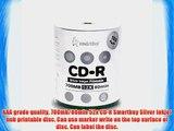 Smartbuy 700mb/80min 52x CD-R Silver Inkjet Hub Printable Blank Recordable Media Disc (1200-Disc)