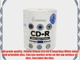 Smartbuy 700mb/80min 52x CD-R White Inkjet Hub Printable Blank Recordable Media Disc (3000-Disc)