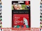 Memorex Mini DVD R DL - 3 x DVD R DL (8cm) - 2.6 GB (55min) 2.4X - Jewel Case - Storage Media
