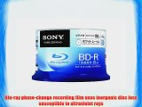 Sony Blu-ray Disc 50 Spindle - 25GB 4x Speed BD-R