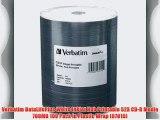 Verbatim DataLifePlus White Inkjet Hub Printable 52X CD-R Media 700MB 100 Pack in Plastic Wrap
