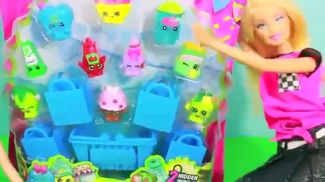 FROZEN PRANK Barbie Elsa Anna Trick Barbie with Shopkins Olaf Doll Toy