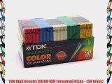 TDK High Density COLOR IBM Formatted Disks - (50 Disks)