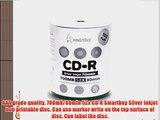 Smartbuy 700mb/80min 52x CD-R Silver Inkjet Hub Printable Blank Recordable Media Disc (6000-Disc)