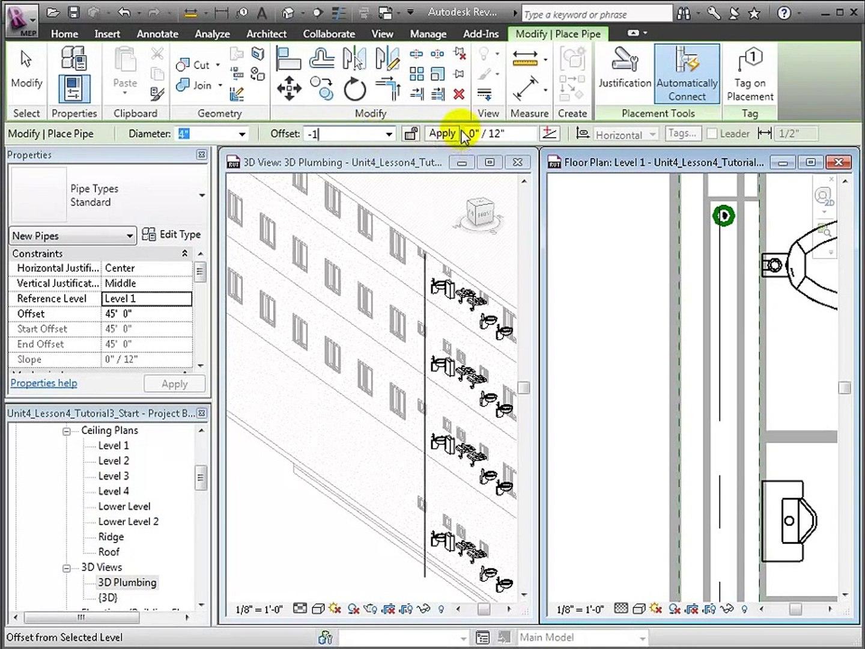 Autodesk Revit MEP Tutorial | Modeling Sanitary Systems