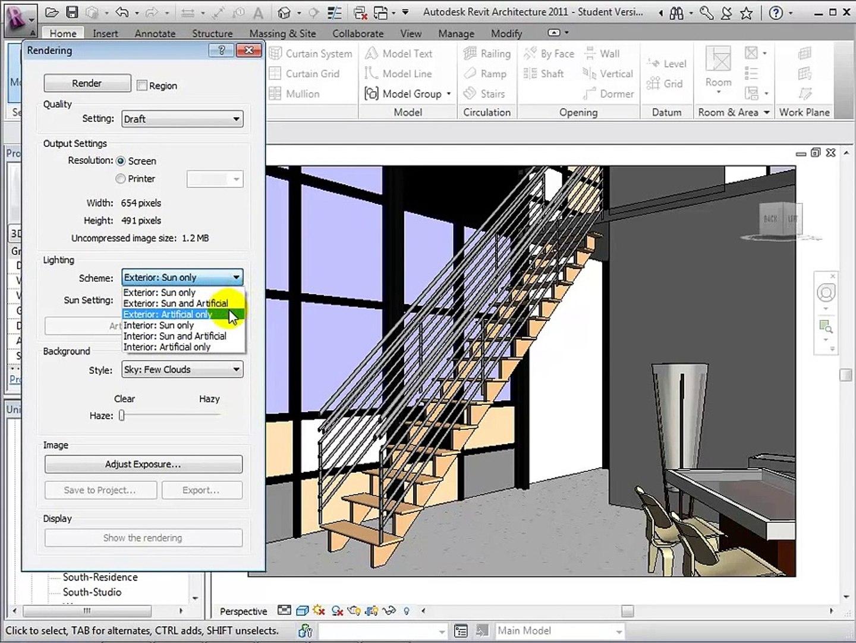 Autodesk Revit Architecture Interior Rendering Tutorial