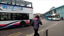 HD Arriva Southend and First Essex buses at Southend Town Centre, Travel Centre