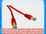 C2G / Cables to Go 31203 Cat6 Molded Shielded Patch Cable Red (10 Feet/3.04 Meters)