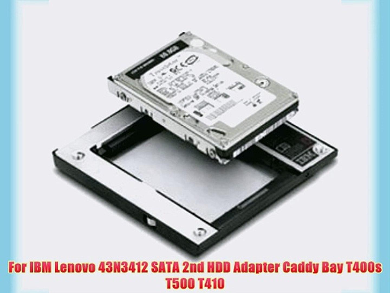 2nd SATA HDD SSD Caddy Adapter for IBM Lenovo Thinkpad T420 T520 W520 W510 T510