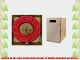 GadKo Bulk Cat5e Red Ethernet Cable Round Stranded UTP (Unshielded Twisted Pair) Pullbox 1000