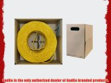 GadKo Bulk Cat5e Yellow Ethernet Cable Round Stranded UTP (Unshielded Twisted Pair) Pullbox