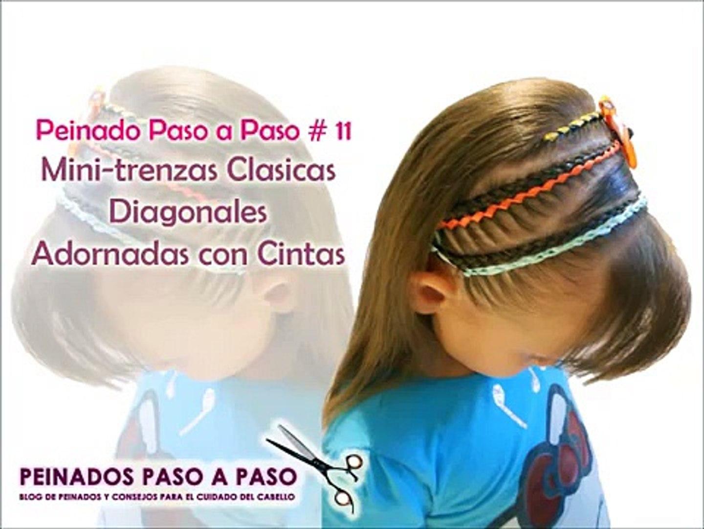 Peinados Fáciles Para Niña Mini Trenzas Clásicas Diagonales