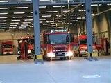 Brandweer Antwerpen rukt met meerdere wagens uit voor duik inzet.