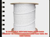 UL Litsted RG59 Siamese 1000 ft. Coaxial CCTV Cable - Combo 20 AWG Solid Copper RG59   18/2
