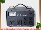 ELC TR-5000 5000 Watt Voltage Regulator with Transformer - Step Up/Down - 110V/220V - Circuit