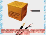 500 ft. RG59 Siamese CCTV Combo Coaxial Cable Black - 20AWG RG59   18/2 18AWG Power