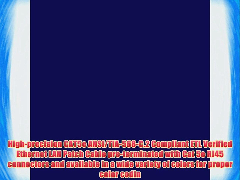 GearIt (10 Pack) 25 Feet Cat5e Ethernet Patch Cable - Computer LAN Network Cord Blue - Lifetime