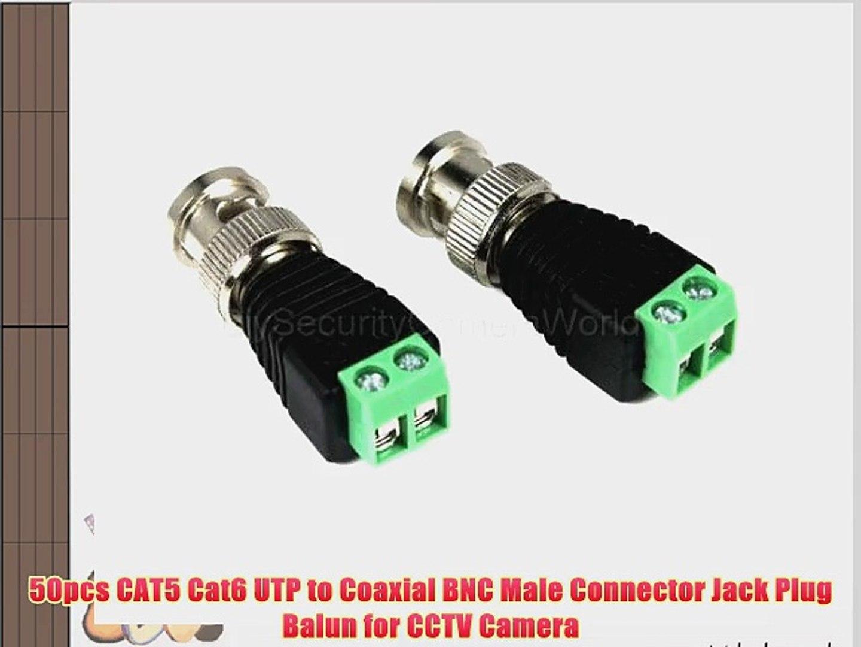 50pcs  CCTV RG59 Coax BNC crimp on connectors