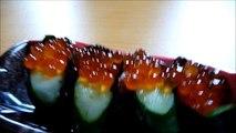 [ Japanese cuisine ] Eating Japanese food Washoku Sushi  Ikura Gunkan Maki  イクラ軍艦巻き