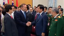 "Tony Abbott tells Vietnamese General ""We Australians know well the power of the Vietnamese army"""