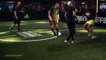 Zinédine et Enzo Zidane défient deux freestylers