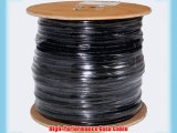 Cat6 Shielded Waterproof Tape Direct Burial 1000ft Black Bulk Ethernet Cable