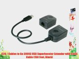 C2G / Cables to Go 39993 USB Superbooster Extender with Cat5E Cable (150 Feet Black)