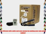 C2G / Cables to Go 28428 Cat5E UTP Stranded PVC CM-Rated Cable Installation Kit Grey (500 Feet/152.4