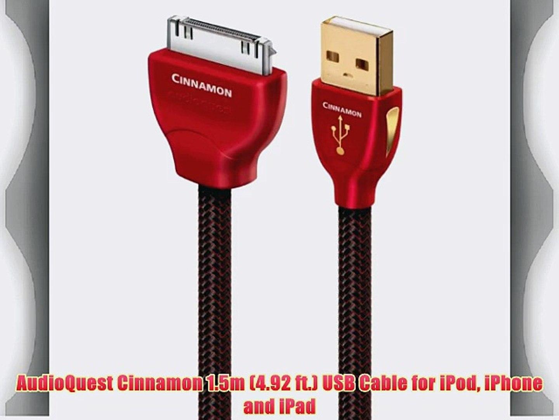 3 x AudioQuest Pearl USB Digital Audio iPod or Ipad Cable 1m 30 Pin