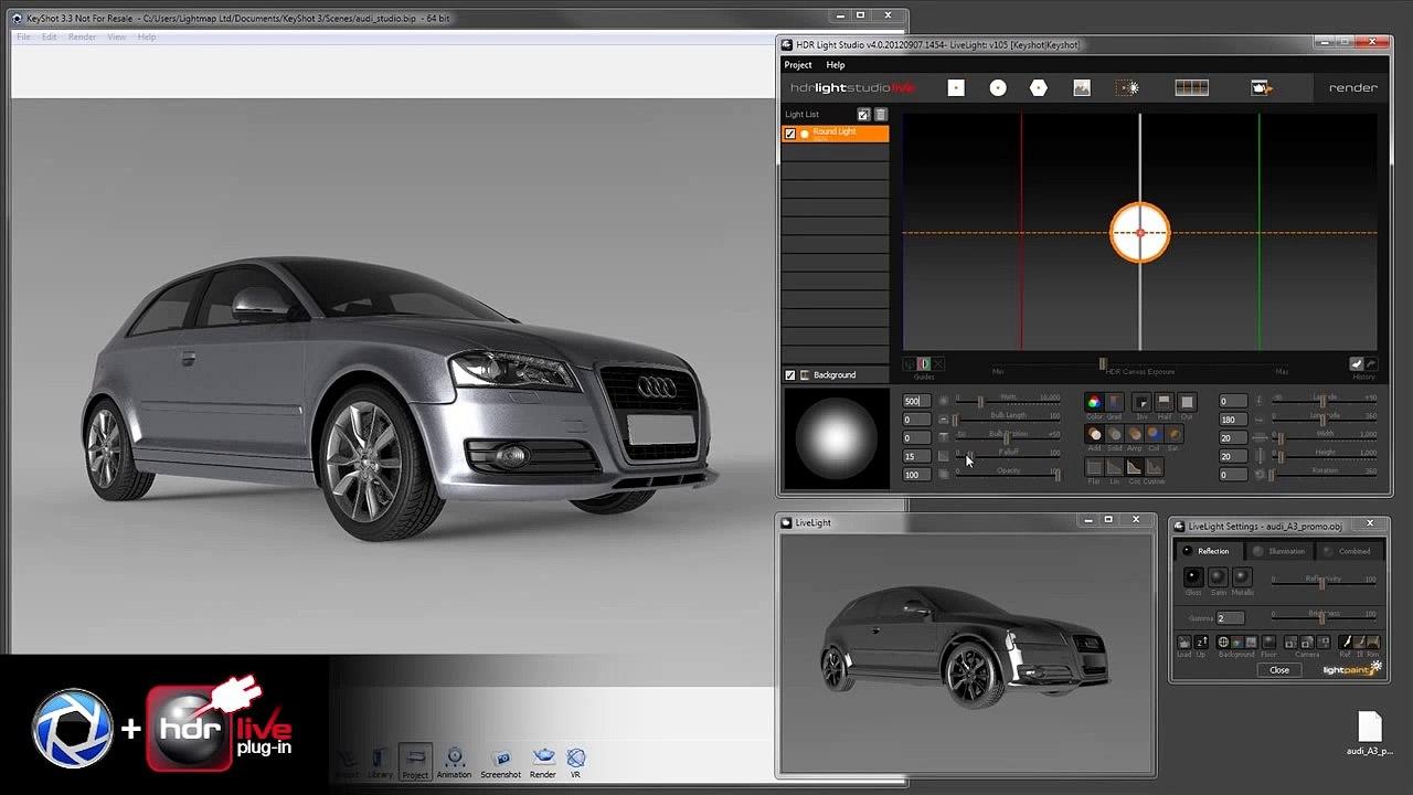 HDR Light Studio 4 and KeyShot