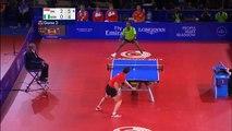 Tennis de table     Segun Toriola vs Ning Gao 41 échanges
