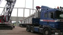 Hercuton: Montage prefab beton moerbalken van 48 ton