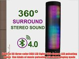 InaRock 10W Wireless LED Bluetooth 4.0 Speakers with TF Card Portable Speaker with Dazzle LED