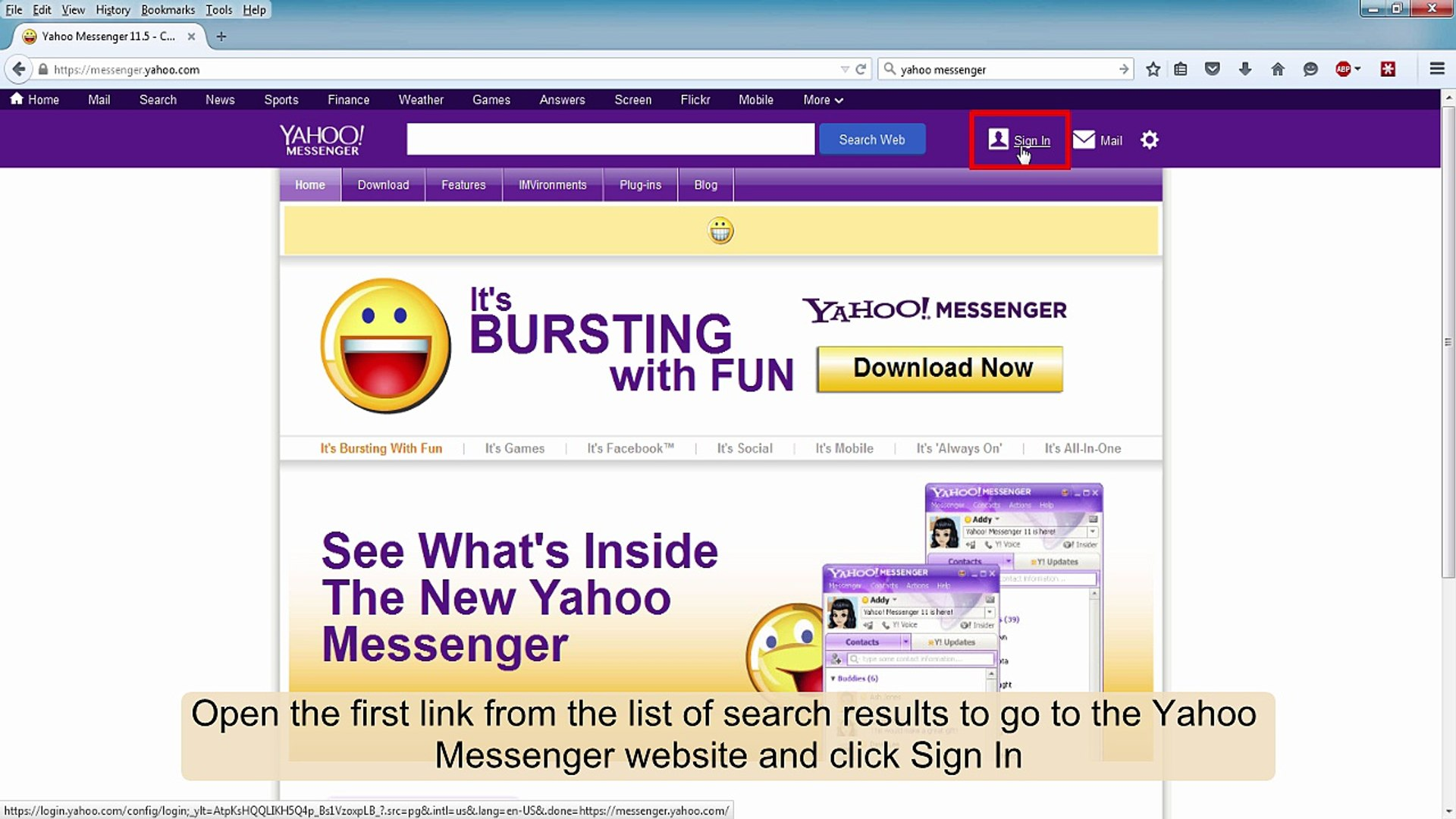 Messenger account new yahoo sign up create How to