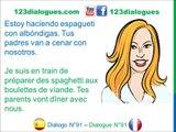 Diálogo 91 Espagnol Francés - Comida en familia - Repas en famille