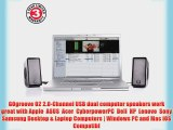 GOgroove SonaVERSE O2 Multimedia Stereo Speaker System with Powered Subwoofer  Volume Controls