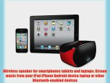 Logitech Mini Boombox for Smartphones Tablets and Laptops - Red