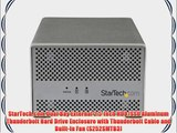 StarTech.com Dual Bay External 2.5-Inch HDD/SSD Aluminum Thunderbolt Hard Drive Enclosure with