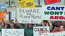Campaigners against Household Tax occupy council meeting Lifford Co. Donegal