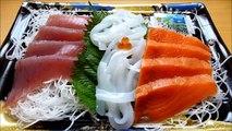 [ Japanese cuisine ] Eating Sashimi  Japanese food  Raw seafood  Washoku