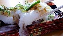 [ Japanese cuisine ] Eating Japanese food Washoku Sushi  YariikaSpear squid sugata nigiri  ヤリイカ姿握り