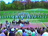 Highlands High School Marching band performing at the 1984 HOLMES competition
